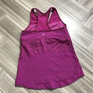 Lululemon Womens Fuchsia Athletic Yoga Tank Top 8